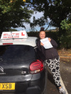 Lauren passed after driving lessons with instructor Sue in Redhill