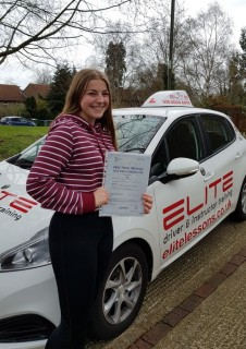 A lovely #firsttimepass for Kim's pupil Anna at #Chertsey Test Centre with just 1 minor fault :) #drivinglessons