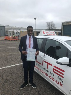 Congratulations to Garry's pupil (and son!) Greg for an extremely impressive #drivingtest pass at #Mitcham Test Centre #driving #Croydon