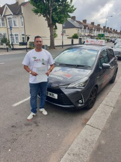 This is Mohsin's pupil Lenin who #passed his #drivingtest at #Croydon TC this week, with only 3 #minorfaults! #Croydondriving #eliteinstructors