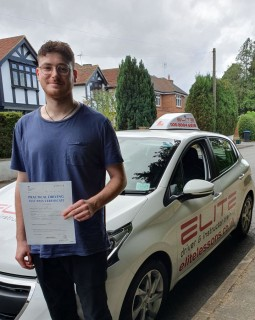 Another great #driving test pass for Kim's pupil George, well done! #eliteinstructors #drivingschool