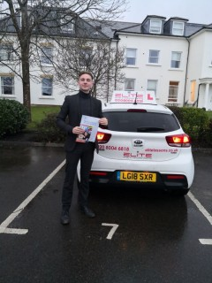 Congratulations to Jenny's pupil Harvey on passing his #drivingtest in #Redhill in January. A really good #pass in horrendous weather. Well done.