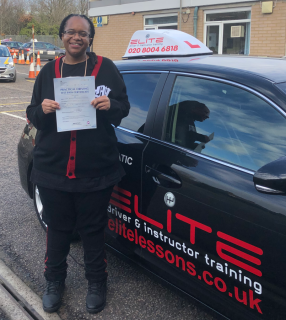 Another fabulous January #drivingtest pass for Garry's pupil Bianca on her birthday! #Croydon #eliteinstructors
