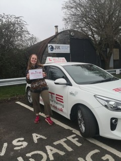 A Huge congratulations to Hayley on passing her test 1st time at #Redhill. Brilliant driving. New licence, new job.  #eliteinstructors