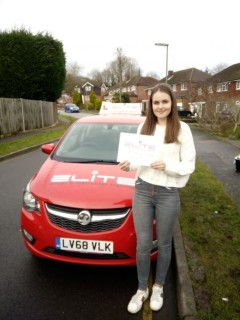 A beautiful #drivingtestpass at #Redhill for Paul's pupil Sophie! #eliteinstructors
