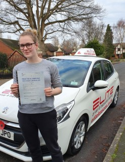 A big congratulations to Kim's pupil Zoe for passing her #drivingtest at #Chertsey DTC, well done! #eliteinstructors