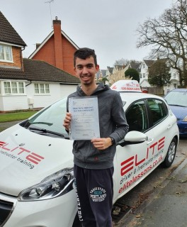 A big congratulations to Kim's pupil Finley for a great #drive and #firsttimepass on his #drivingtest today, with just one minor fault at #Chertsey Test Centre :) #drivinglessons #eliteinstructors