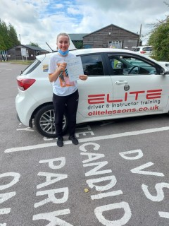 Congratulations to Katie for passing her #drivingtest after #lockdown with #ELITE instructor Jenny , with some really good and confident driving. Also pictured with her is her sister who #passed with Jenny in 2014.