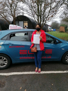 Another pass for Pierluigi - well done to Sandhya for a brilliant #Redhill #drivingtest pass! #Automatic driving