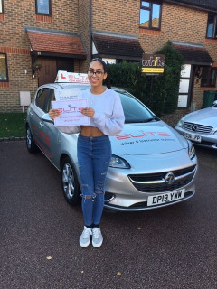 Well done to Lee's pupil Lucy who #passed at #Crawley just before #lockdownnumber2!