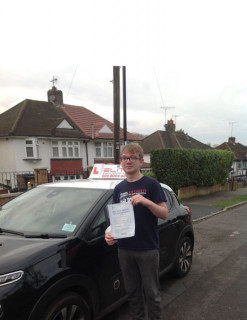 Brilliant #firsttimepass for Sue's pupil Cameron with just #2minors at #WestWickham!!