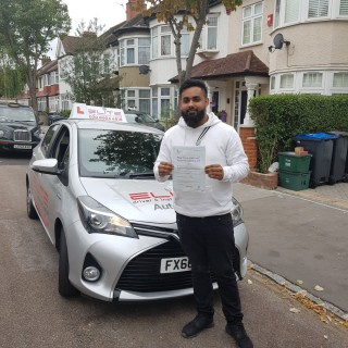 Congratulations Bilal for passing his #drivingtest at #MitchamTestCentre yesterday  after taking #drivinglessons with #EliteDrivingSchool #Instructor Mohsin. #Niceone!