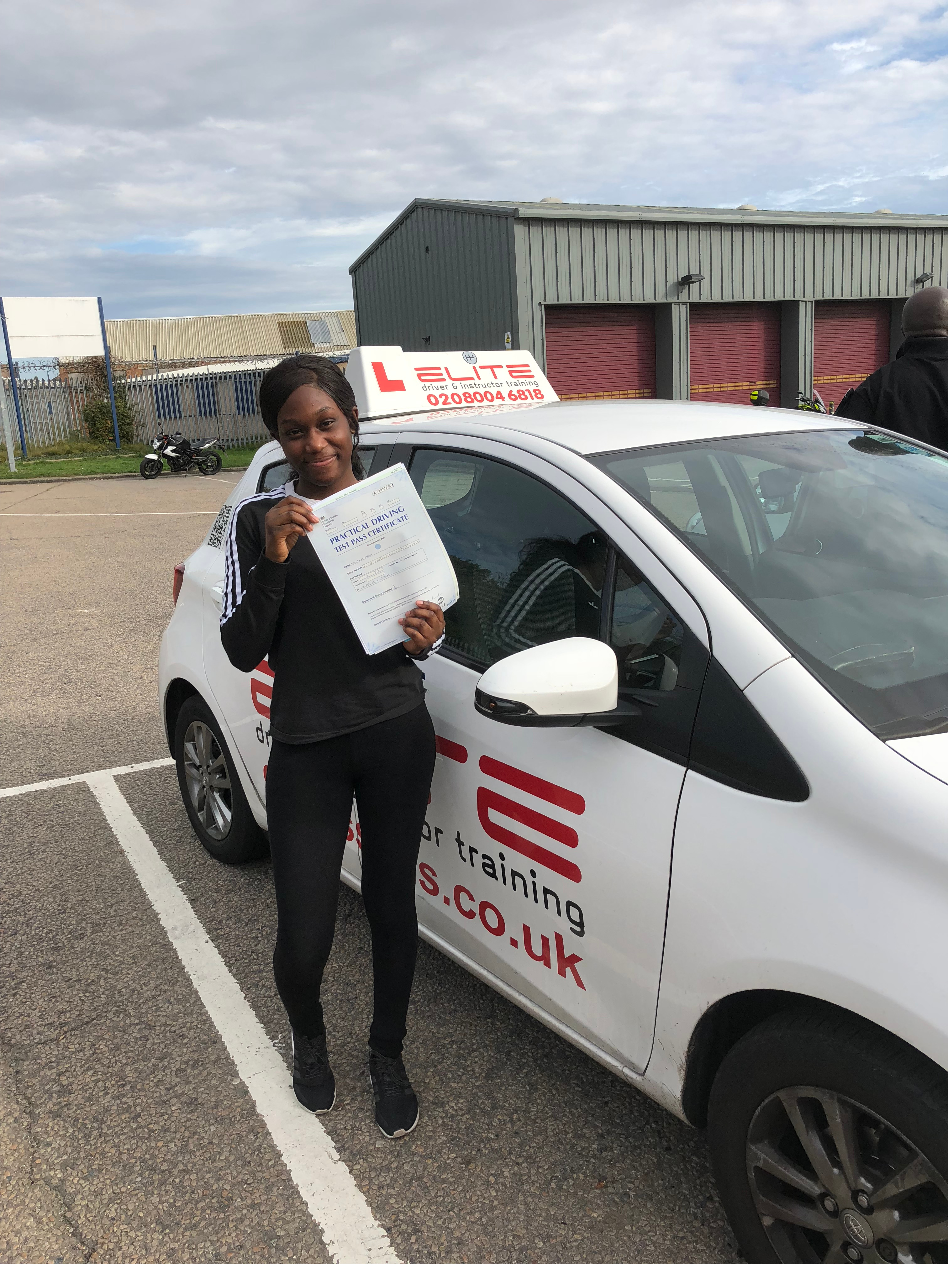 Another great pass for Garry last Friday with Reine at #MitchamTestCentre! #Congratulations!