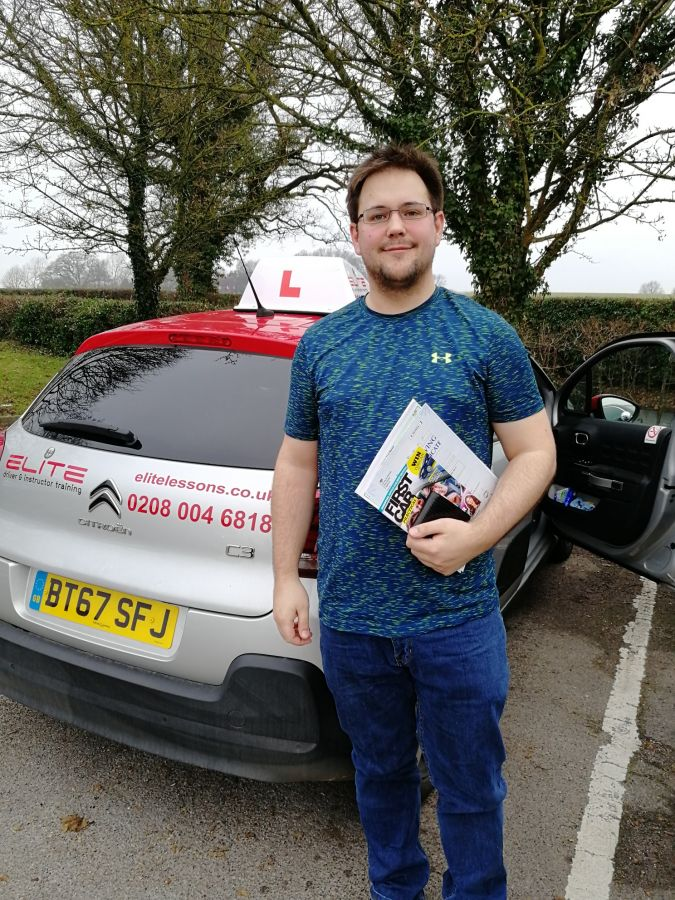 Another fabulous #Redhill pass for PG's pupil James #safedriving #drivinglessons
