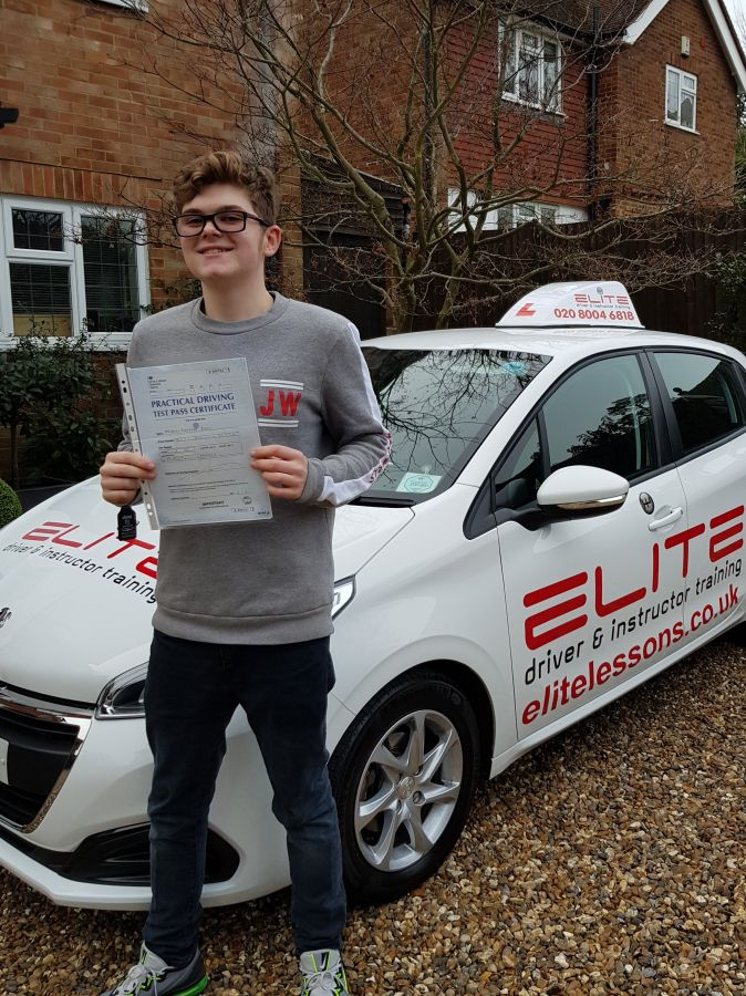 Well done Jaime on his #FirstTimePass at #ChertseyTestCentre
