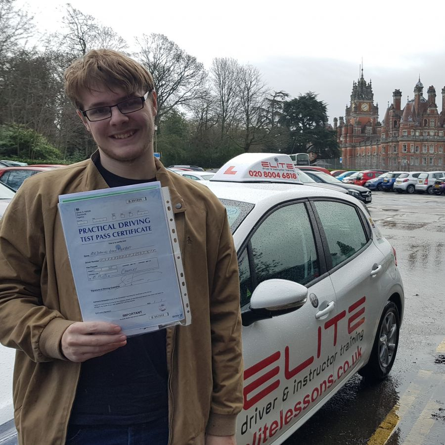 A fantastic #drivingtest pass for Kim's pupil Daniel at #ChertseyTestCentre yesterday #safedriving #ELITEinstructors