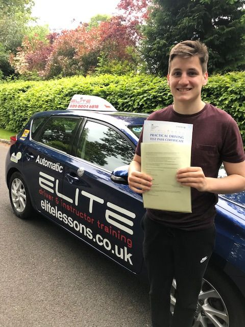 Well done to Michael, firstly for getting up so early  and secondly for passing his #driving test at #Redhill this morning  Well done and #staysafe