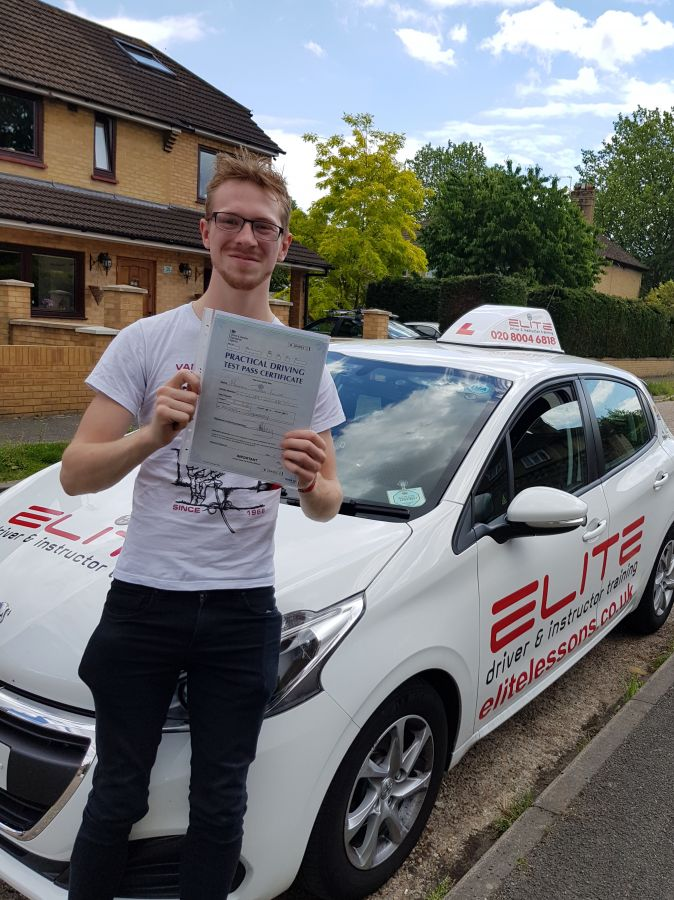 Another brilliant day for Kim's pupil Michael who passed his #drivingtest at #Chertsey Test Centre with #eliteinstructors #elitedriving #elitelessons