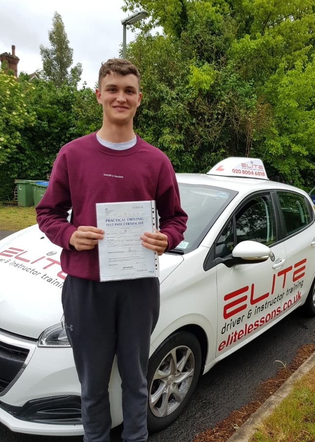 This is Kim's pupil Daniel who had a fantastic #firsttimepass at #Chertsey Test Centre with only 2 faults! #eliteinstructors #drivingtest