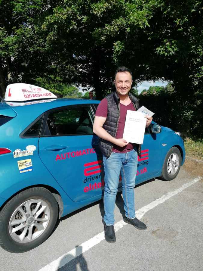 A great big well done to Pierluigi's pupil Serkan who passed his #automatic #drivingtest at #Redhill Test Centre!