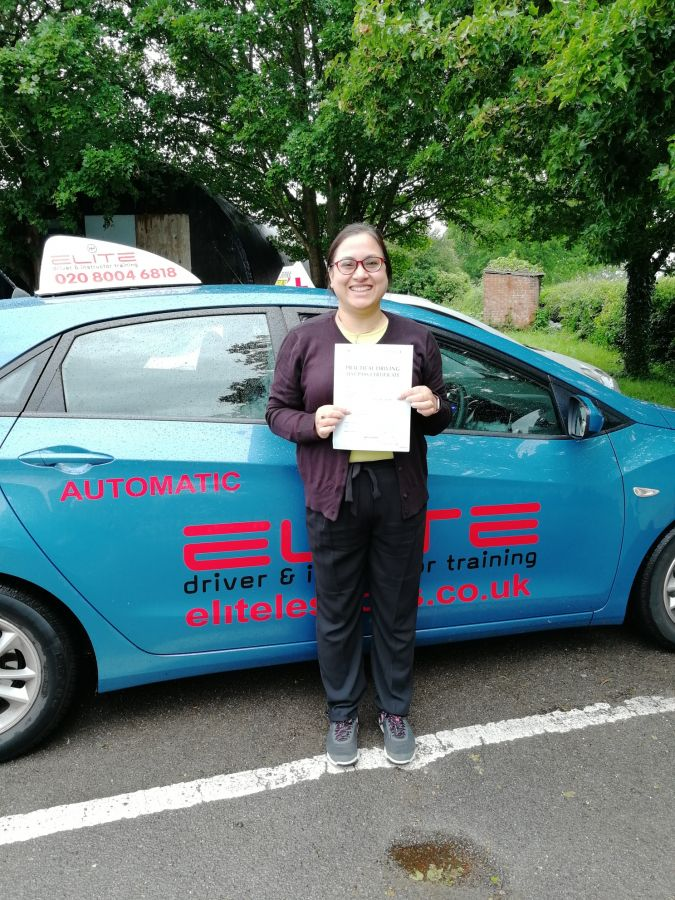 Congratulations to Pierluigi's pupil Richa for a fantastic #firsttimepass at #Redhill Test Centre today! #eliteinstructors #drivinglessons #safedriving
