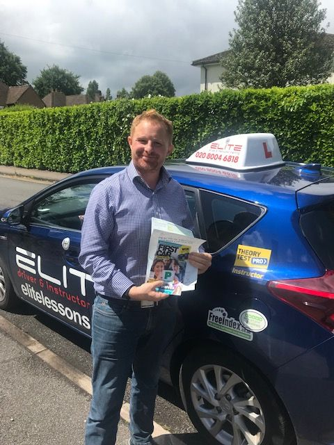 Huge #congratulations to Ian's pupil David for a fantastic #firsttimepass at #Redhill TC today! With your #newbaby due any day soon, we are thrilled you will be able to #drive your family around #safely! #eliteinstructors #safedriving