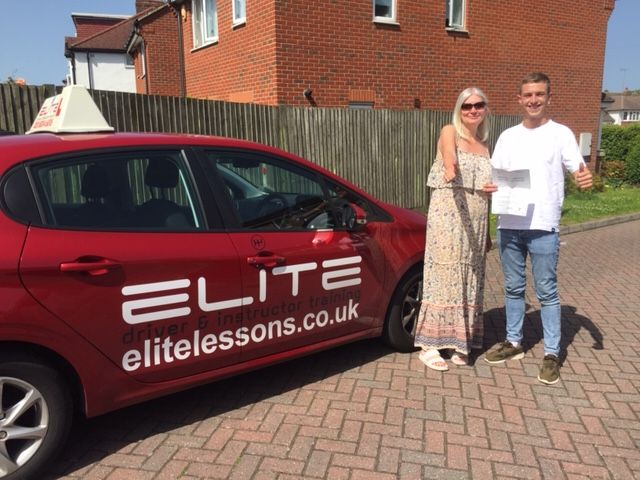Huge congratulations to Sue's pupil Alex (both pictured celebrating!) for a fabulous #drivingtest pass at #WestWickham Test Centre with only 3 minor faults! #eliteinstructors