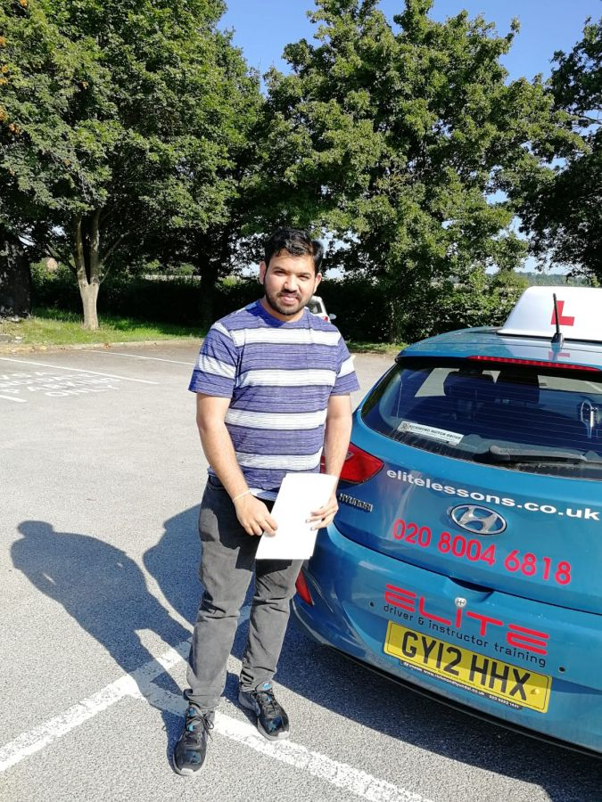 Huge congratulations to Pierluigi's pupil Chandra for passing his #drivingtest at #Redhill Test Centre today! #eliteinstructors