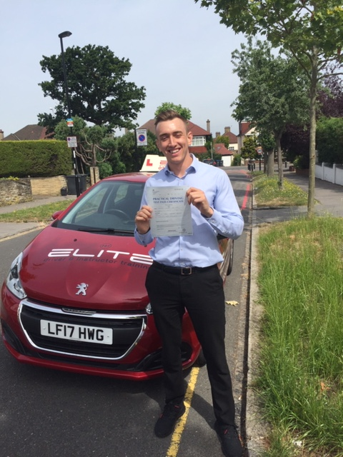 A massive well done to Sue's pupil Tom for a #firsttimepass at #WestWickham Test Centre! #drivinglessons #eliteinstructors