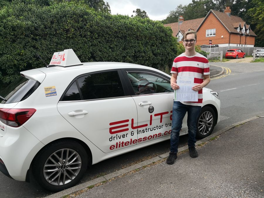 "Jenny's pupil Nick passed his #drivingtest - Jenny wanted to say a few words: ""I would like to congratulate Nick on his first time pass at #Redhill today. He's worked really really hard and had many ups and downs, but it was definitely worth it. He held his nerve, especially with 2 examiners in the car, and was able to do a really good test. Well done.  """