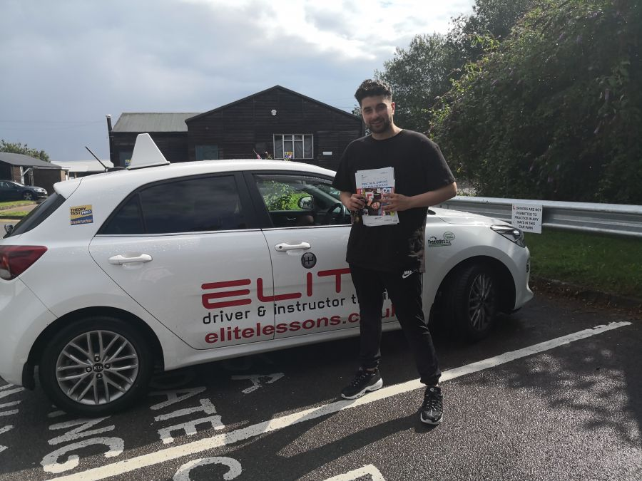 A HUGE congratulations to Jenny's pupil Ferzan on passing his #drivingtest at #Redhill. Excellent effort, especially because the weather did not help. #eliteinstructors #drivinglessons