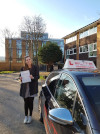 Alice passed her test at Redhill after lessons with Karen