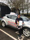 Praveena passed after taking driving lessons in Redhill