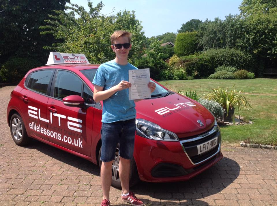 Ben took lessons and passed with Sue in Reigate