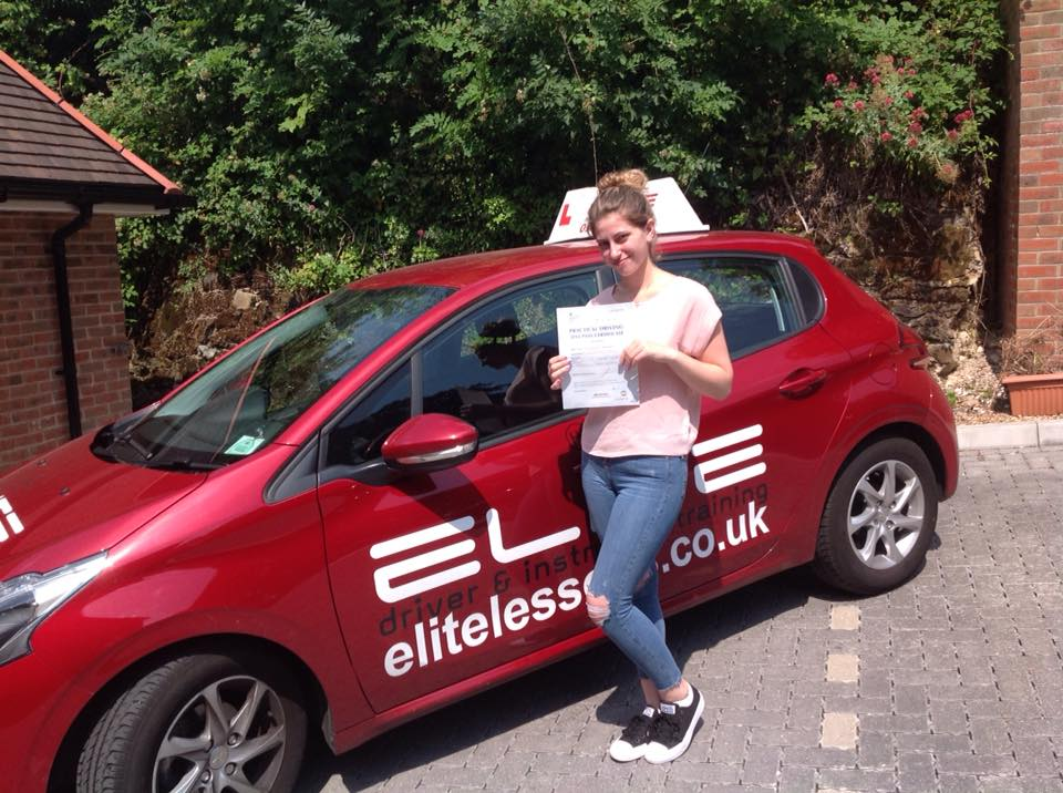 Lisa took lessons and passed with instructor Sue