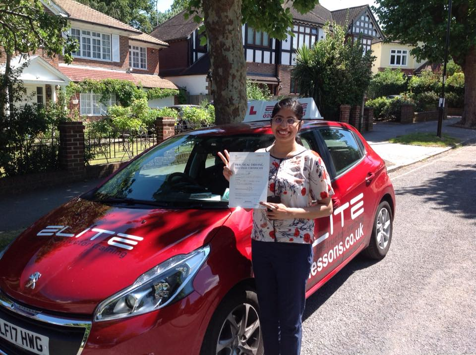 Merlin passed with Sue in West Wickham