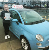 Lucy passed her test in Farnborough after driving lessons with Adrienne
