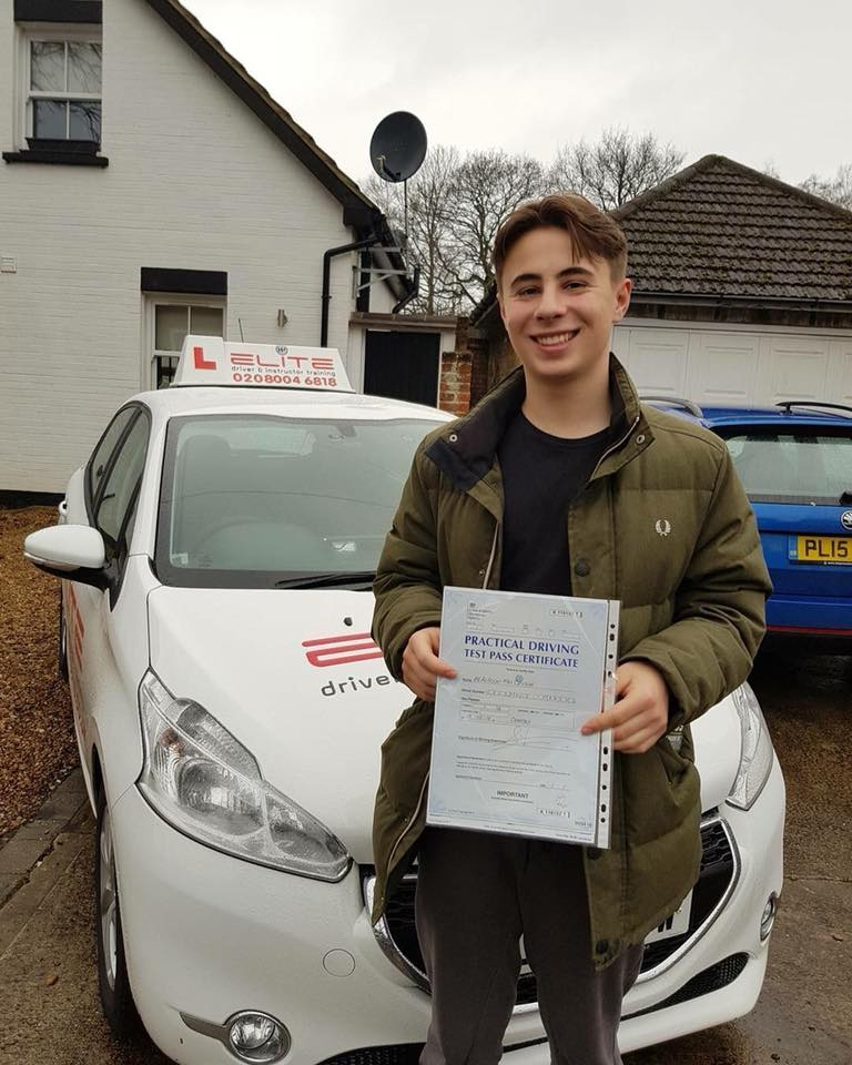 Alfredo passed with Kim in Weybridge