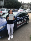 Anan passed her test at Redhill after taking automatic driving lessons with Ian