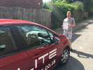 Bradley passed his test after taking driving lessons with Sue in Croydon
