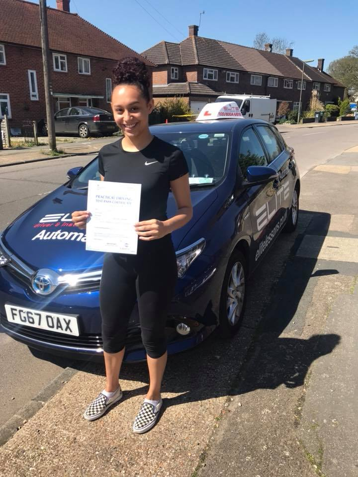 Chantalle passed in Reigate after taking driving lessons with Ian