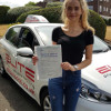 Chloe passed her driving test first time after taking lessons with Kim