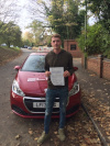 Dan passed his test at Redhill after taking lessons with Sue