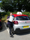 Ella passed her test first time at Redhill after taking lessons with Pierluigi