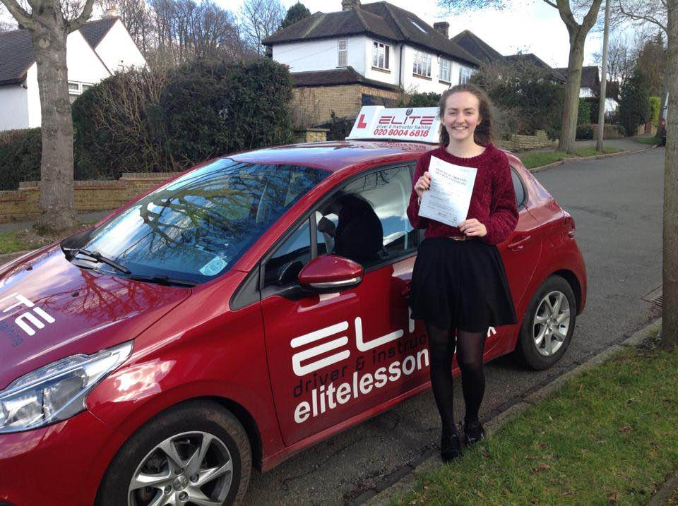 Emily first time pass with Sue Garner in West Wickham driving test centre