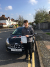 Dominic passed his test with zero faults after taking lessons with Graham