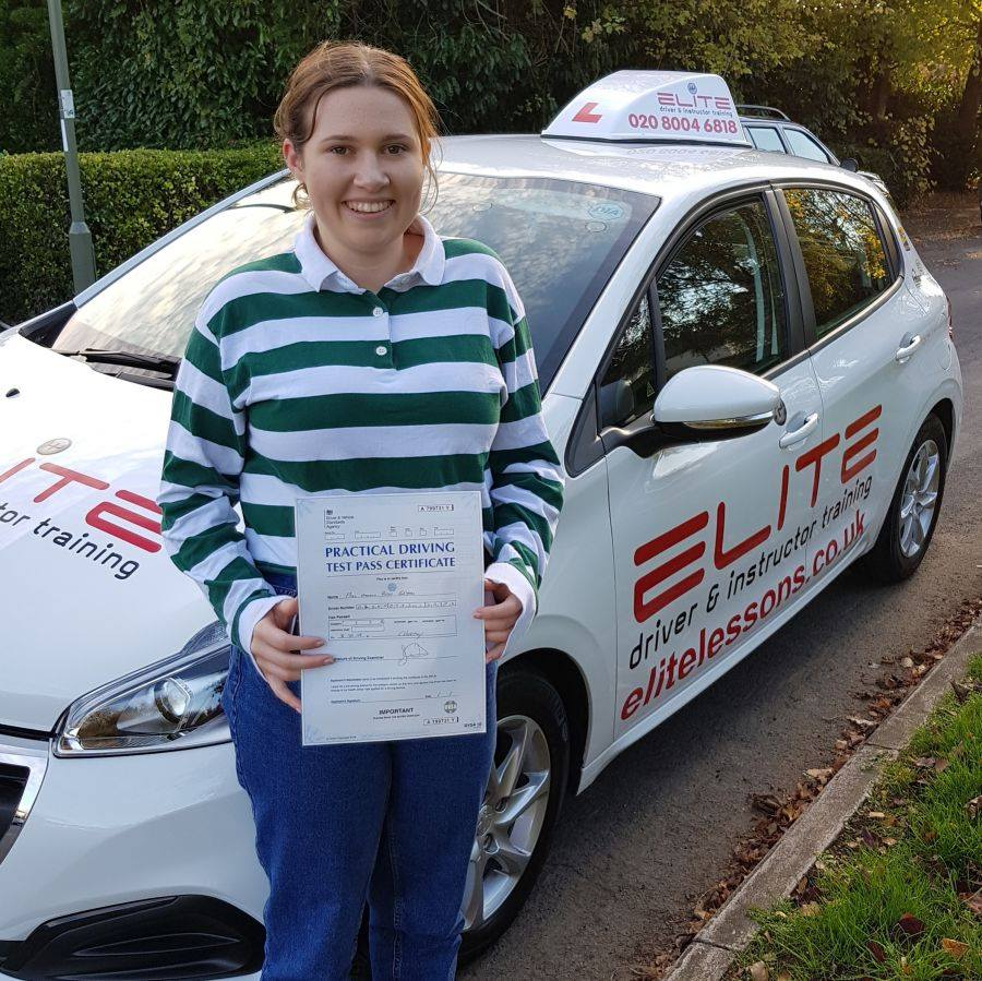 Hannah passed first time with Kim in Weybridge