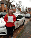 Holly passed after lessons with Kim in Weybridge