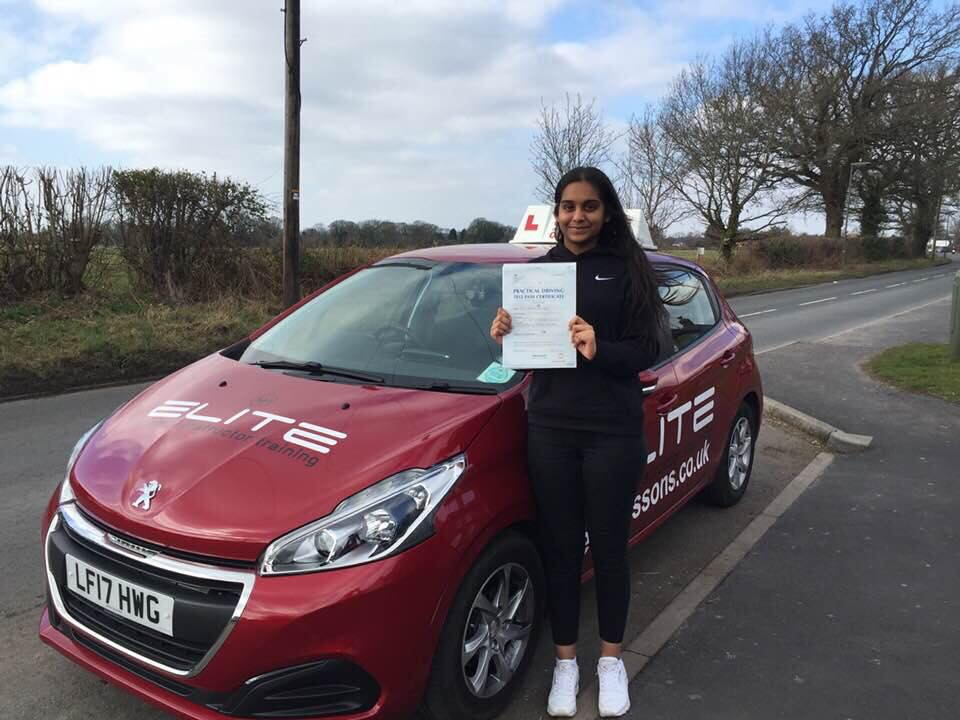 Huzaila passed with Sue first time at West Wickahm test centre