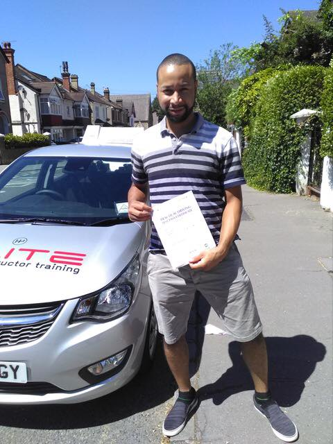 Ian passed his test after taking lessons with Paul